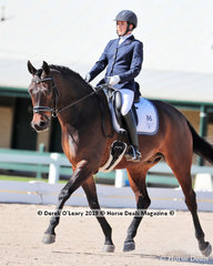 """Winners in the Elementary 3a/3b Championship, Karen Thornton riding """"Graceland"""" with a score of 30 points"""