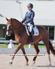 """Cheryl Fort rode """"Rosebella"""" in the Elementary 3a/3b Championship placing 4th on 27 points"""