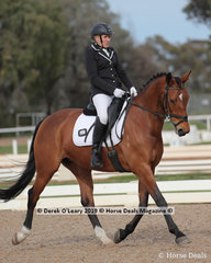 "Susan Leslie rode ""Hillbreeze Replica"" in the Medium 4B on Sunday"