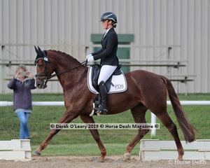 "Tamara Campain rode ""Gowrie Park Cognac"" in the Medium 4B on Sunday"