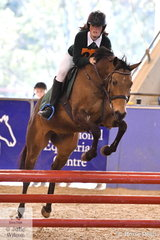 Brooke Hanham from Tasmania rode Anakawi the Sequel in the riding phase of the Junior Tetathlon.