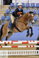 Nicole Martin from NSW rode Palmers Comedy in the riding phase of the Junior Tetathlon.