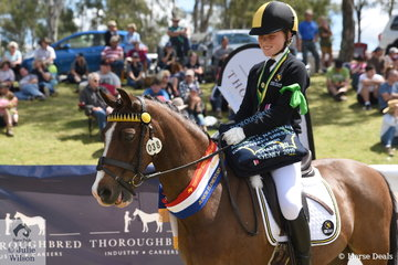 Lauren Rowe from WA rode Charisma Royal Emblem to take out the Champion Junior Elementary Dressage.