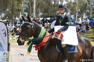 Melanie Johnston from NSW rode Yorlanna Knight to take out the Reserve Champion Preliminary Dressage Award.