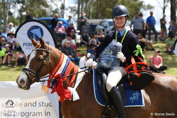 Talicia Beardmore from NSW rode PP Jeopardy to take out the Senior Novice Dressage Championship.