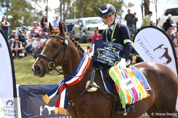 Tara Seppelt from NSW rode Kapeta Spellbound to take out the Sub-Junior Eventing Championship.