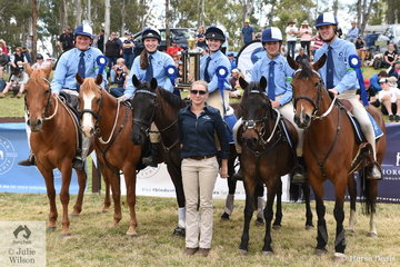 Event sponsor, Tracy O'Hara from Thorougbred Industry Careers, presented the NSW Senior Games team, (Jared Newham, Archie McGrath Weber, Breanna Geloven, Bec Sanford and Montanna Jonker) the Championship award.