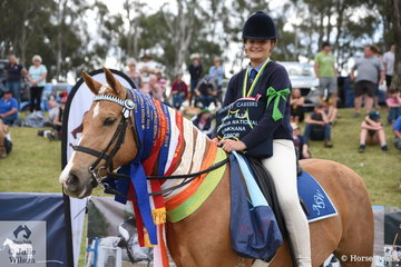 Andrea Hollis from NSW and Coolidowns Cheroke look to of had a wonderful time at these Championships. Today they were awarded the Gymkhana Junior Championship award.