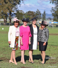 Enjoying the sunshine on the last day of competition are the fourfabulous 2019 NSW Horse of the Year judges - Rachael Douglas, Geraldine Crocker, Joanne Johnson and Nicole Jamieson.