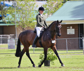 """Jessica Hobson rode """"Valentino"""" to win Champion Amateur Owner Rider Show Hunter Hack of the Year."""