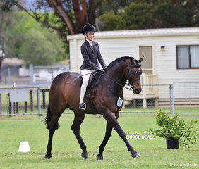 """Winner of the Child's Show Hunter Hack of the Year """"Mount Olympus"""" and Coco Guenther."""