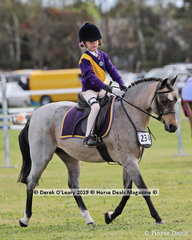 "Madison Borthwick from Portarlington rode ""Dalgangle Mooshine"" in the Pony Club Rider 5 & 6 years old"