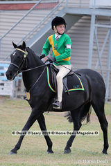 "Colby Devlin placed 3rd in the Pony Club Rider 10 years and under 12 years riding ""Herrinda Shimmeree"" representing Drysdale-Leopold Pony Club"