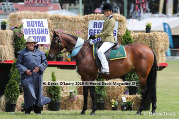 "Supreme Champion Ridden Australian Stock Horse, Tahlia Young and ""Kardinia Niah"""