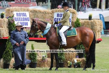 "Supreme Champion Ridden Australian Stock Horse, Tahlia Young and ""Kardinia Niah"""