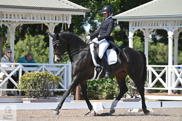 Taylah Stuart rode her own Astek Ghisella in the IRT FEI Prix St Georges.