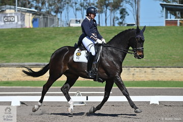 Lizzie Wilson-Fellows rode her own and Maria Kelly's, Larapinta Showstar to 12th place in the IRT FEI Prix St Georges with a score of 67.38%.