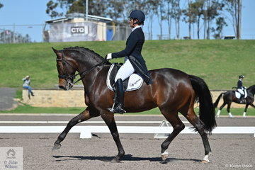 Nina Boyd rode Emily Hill's, Springfield Passion Hit to eight place in the IRT FEI Prix St Georges with a score of 68.35%.