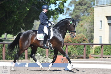 Charlotte Pedersen rode her imported stallion, Baunehojens Diamond Dancer to fifth place in the IRT FEI Prix St Georges with a score of 69.38%.