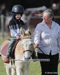 """OK, Leading Rein Donkey classes anybody, Andrea Barton's """"Jack"""" how cute is that!! """"Jack"""" also won Champion english/Irish Donkey, and Supreme Champion Donkey"""