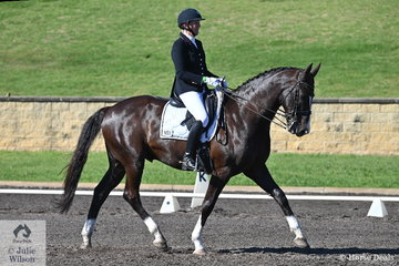 Wendy Ward rode HB Rhodium in the RHS Dressage EA Medium Championship, on a beautiful spring day in Sydney.