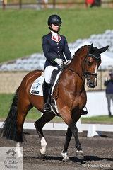 Daniella Dierks rode Andrea Beatty's, SPH Renaissance to win the RHS Dressage EA Medium 4C scoring 72.26%.