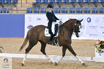 Mary Warren produced a very nice test aboard her Mindarh Park Ramirus to win the Agnes Banks Equine Clinic CDI-Y Freestyle, scoring 73.03%.
