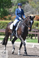 Caitllin Radford from Tasmania rode her MS Cocktail to finish mid field in the large Trailrace EA Novice Championship.