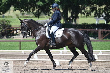 Cheryl Ludlow rode her Revelwood 99 in the Trailrace EA Novice Championship.