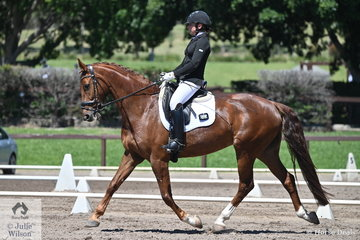 Linda Foster riding Robert Wright's, Rossini HG took fifth place in the Trailrace EA Novice 2C.