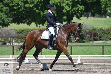 Jayden Brown rode S. Makauskas' Esteem to eight place in the Trailrace EA Novice 2C.