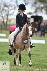 Ivy Aikman is pictured aboard Joanne Deane's, 'Wyann Tiddleywinks' during the class for Rider 6 AU 9 Years.