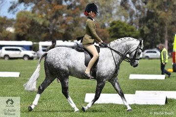 Stella Horspole rode Arielle Stella's delightful, 'Bamborough Jeune' to claim the Child's Large Show Hunter Pony Runner Up Award.