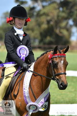 Annabelle Richardson rode Danyel Riemer's, 'Radford Lodge Candy Cane' to claim the Child's Small Pony Runner Up award.