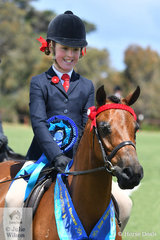Tahlia Young's, 'Rosedale Octavia' was declared Champion Child's Small Pony and went on to be declared Runner Up in the Open