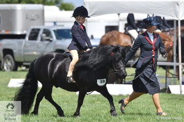 Hudson Foord rode Lillie Foord's, 'Dunavon James The First' to claim the Leading Rein Shetland Championship.