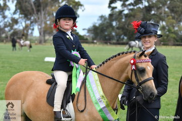 Brynie Lee did the leading and Zara Webster rode Tamara Lee's homebred, 'Tamrie Park Lollipop' to claim the Open Leading Rein (riders 3 AU 8 Years) Runner Up award.