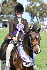 Poppi Plumb rode Genevieve Rounds', 'Dalgangle Piccadilly' to claim the First Ridden Show Hunter Pony Championship and the Child's Show Hunter Pony Runner Up award.