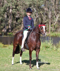 """Mia Wright rode Michelle Haber's """"Amjara Park Euphoria"""" to win the ARC1 Australian Welsh & Part Welsh Ridden Championships Qualifier - Part Welsh not exceeding 12.2 and went on to win Reserve Champion."""