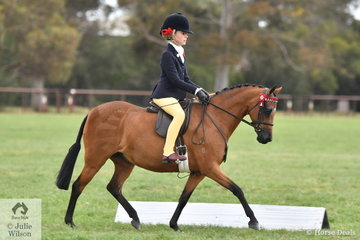 Annabelle Richardson earned an impressive double this weekend. Yesterday she claimed the Child's Small Pony Championship and today she took out the 2019 SHCV Southern Stars Small Pony Championship with Danyel Riemer's, 'Radford Lodge Candy Cane'.