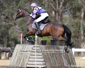 """Natalie Peacock placed 3rd in the CCN1*-SB riding """"Defying Gravity"""" with a final score of 37.0"""