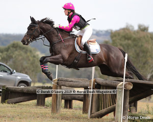 """Winners in the CCN1*-SB, Madeleine O'Callaghan and """".Equineaffair Mystique"""" with a winning score of 29.60"""