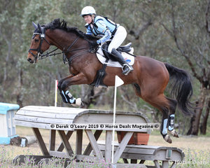 """Emily Anker placed 4th in the CCN2*-SA riding """"Starts Align"""" with a final score of 40.2"""