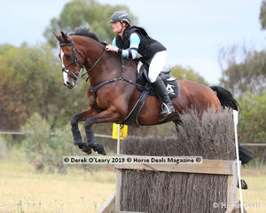 """Tamara Campain placed 3rd in the CCN2*-SA riding """"Lambourne Park Academic"""" with a final score of 38.80"""