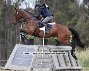 """Toni Shave placed 6th in the CCN2*-SB riding """"Darwin Park Chandilier"""" with a final score of 54.7"""