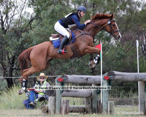 """Rebecca Barling in the CCN3*-S riding """"On Your Mark"""" placing 8th with a score of 48.2"""