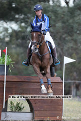 """Winners of the CCN3*-S, Edith Kane and """"Valenthyme"""" with a winning score of 30.7"""