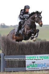 """Kylie Pedder placed 3rd in the EvA95C riding """"Aris Woodbury"""" with a final score of 36.9"""