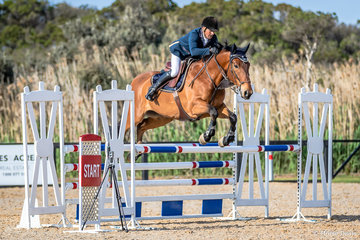 Jamie Coman from Seymour Victoria Goodspell Park Loose Kannan in event 9b Open 115cm