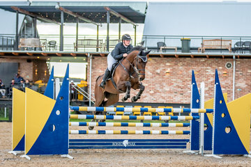 Last event of the day was the Leader Equine Junior Rider 120cm with light fading rapidly. Bronte Hutchinson and Pollyanna did well to place second just behind Sally Simmonds and Chio MS